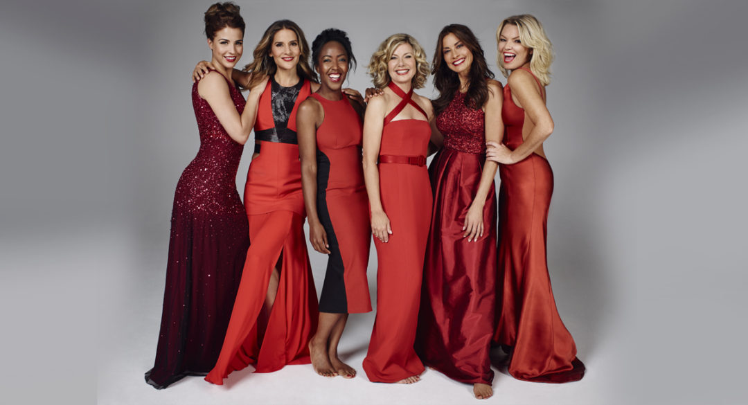 british-heart-foundation-group-red-dresses