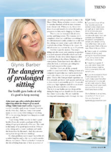 The Dangers of Prolongued Sitting in Natural Health Article Page