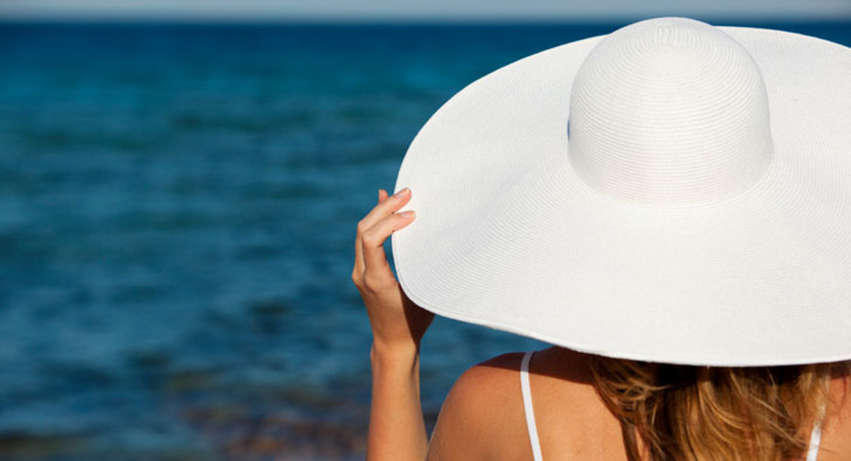 Holiday Sun Hat And Sea