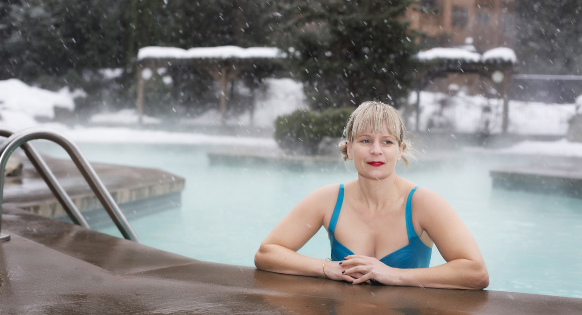 Lady in Heated Pool