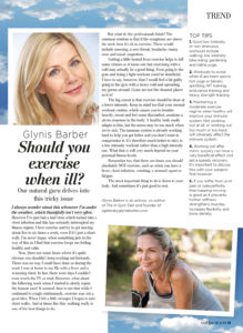 Natural Health - Should You Excercise When Ill?