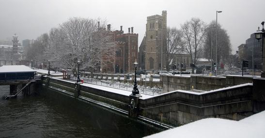Winter Scene by River
