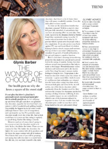 Wonder of Chocolate article in Natural Health