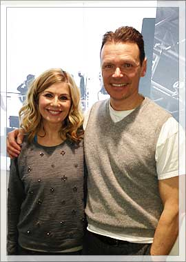 Glynis Barber and Howard Napper at QVC