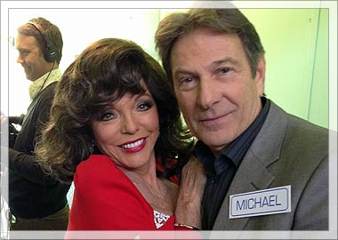 Joan Collins and Michael Brandon