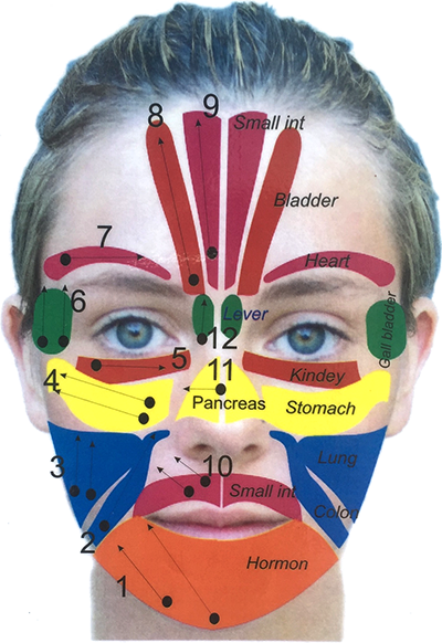 Facial Reflexology Points