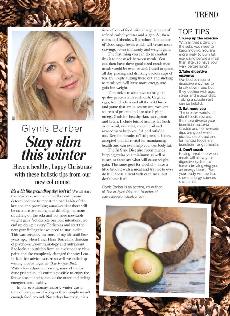 Glynis Barber Stay Slim The Winter Article