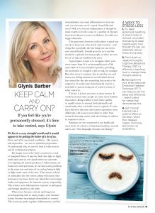Keep calm and carry on? article in Natural Health