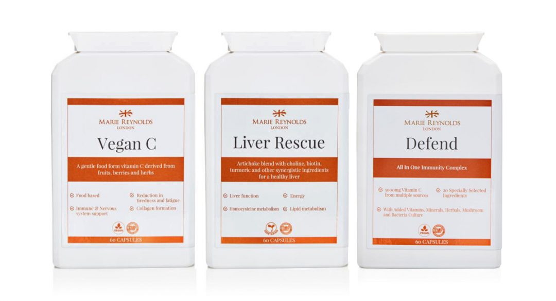 Marie Reynolds - Vegan C, Liver Rescue and Defend Bottles