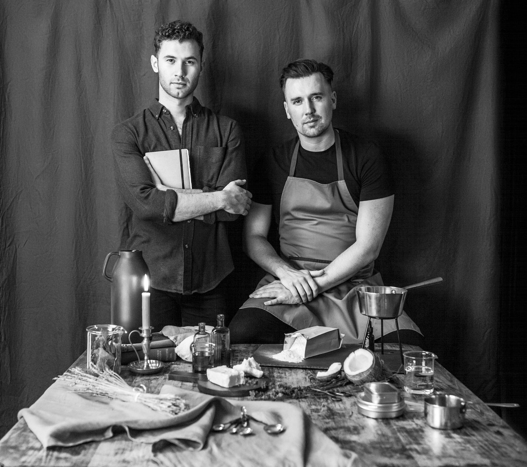 Men Cooking Black and White