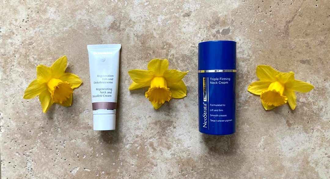 Neck Treatment Products with Daffodils