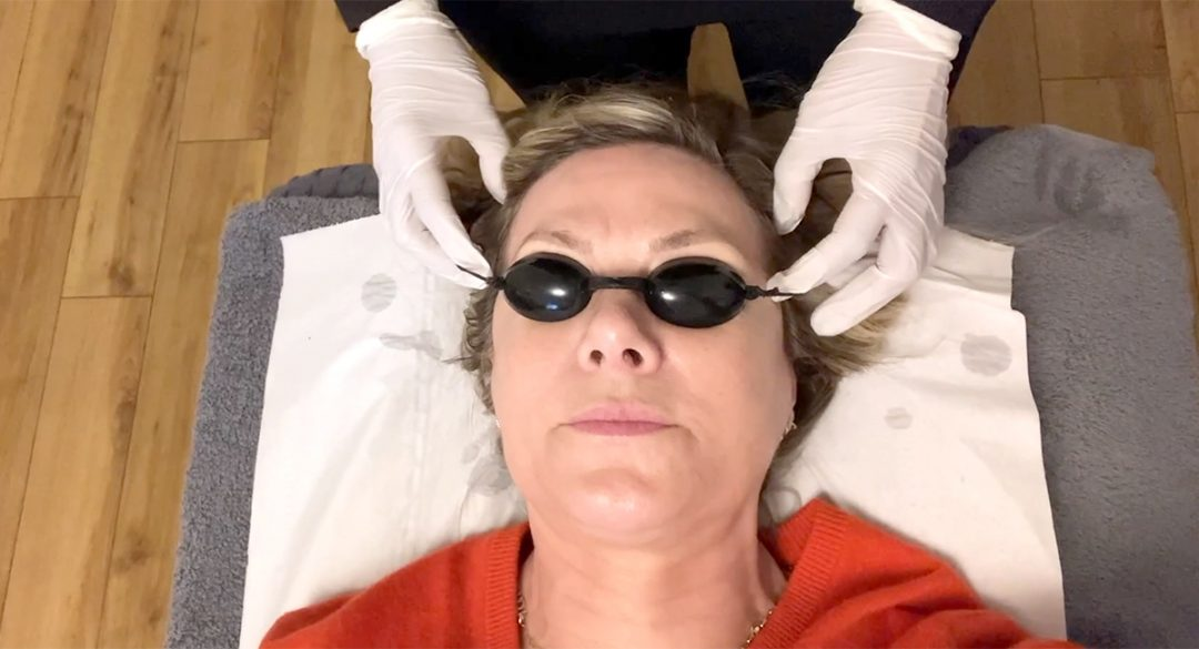 Phytodynamic Therapy with Glynis Wearing Goggles