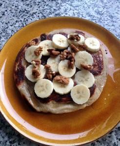 Banana and Walnut Pancake