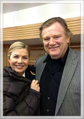 Glynis Barber and Brendan Gleeson