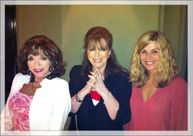Joan Collins Jackie Collins and Glynis Barber