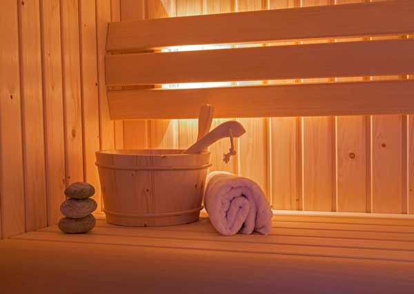 Sauna Interior- is sweating good for you?