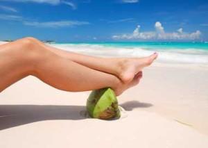 Woman's Legs on a Beach